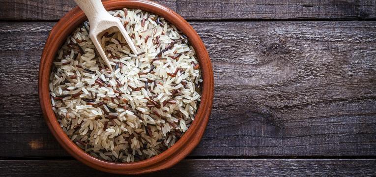 graos de arroz