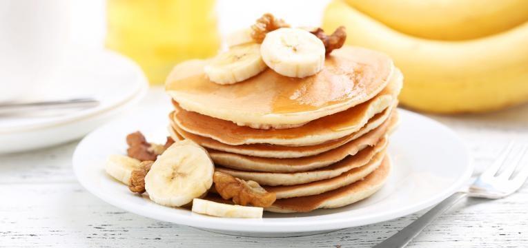 Panquecas vegan com banana