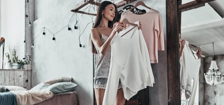 organizar a roupa em casa