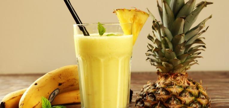 sumo de ananas e banana