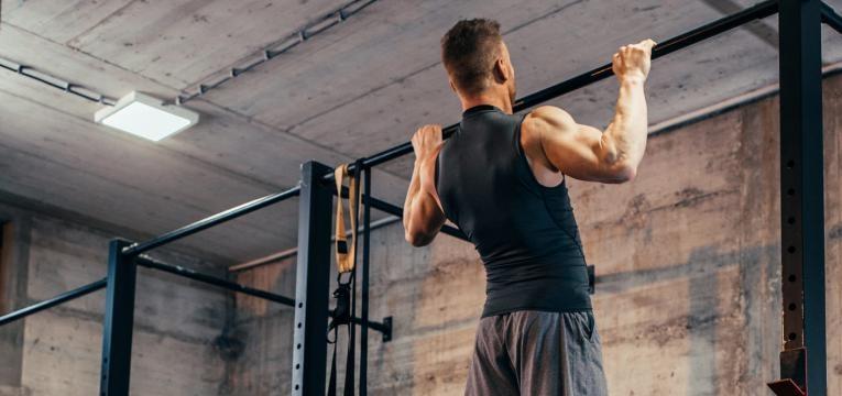 Exercicios com banda elastica e Wide Grip Pull Up com banda elastica