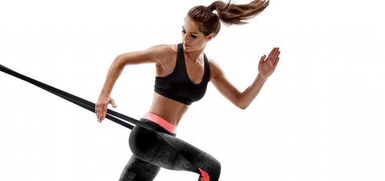 Corrida com banda elastica na cintura