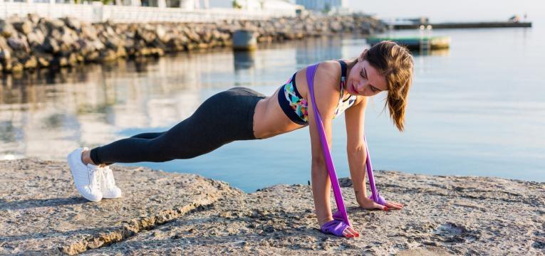 Flexoes com banda elastica
