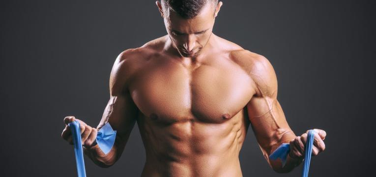 Biceps com banda elastica