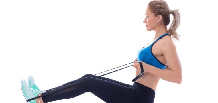 Exercicios com banda elástica para fazer em casa e Remada sentada com banda elastica