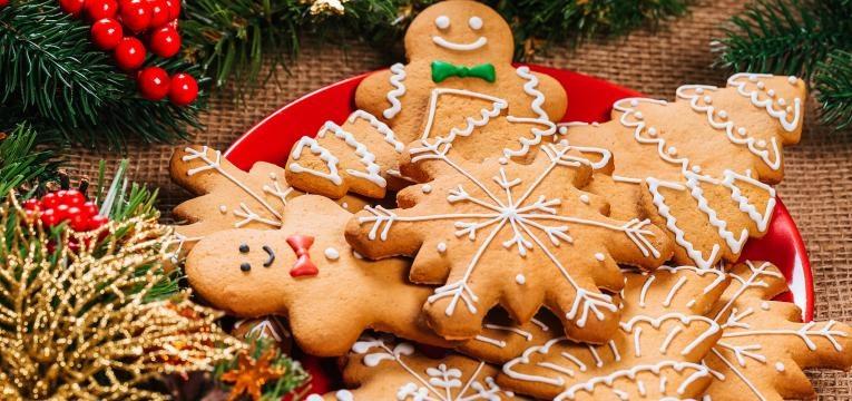 Biscoitos de natal presentes de Natal para quem esta de dieta