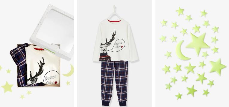 pijamas de natal xadrez
