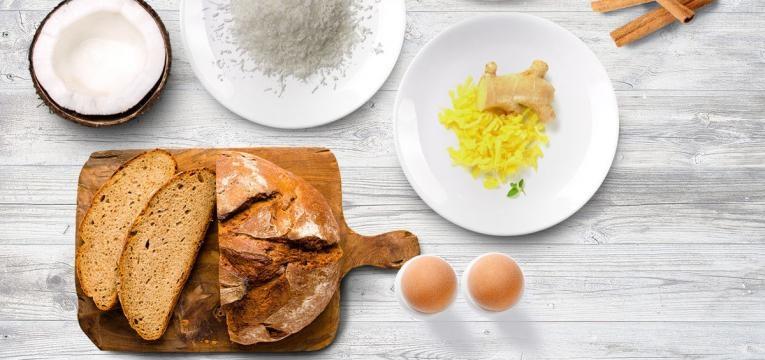 Receitas para um natal fit Rabanadas de laranja e coco no forno
