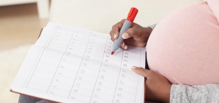 calcular o tempo de gravidez calendario marcado