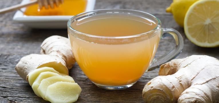 alimentos para evitar constipacoes Cha de gengibre e mel