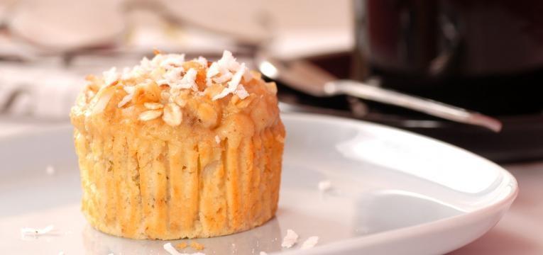 Sobremesas para celiacos Muffin de abacaxi e coco