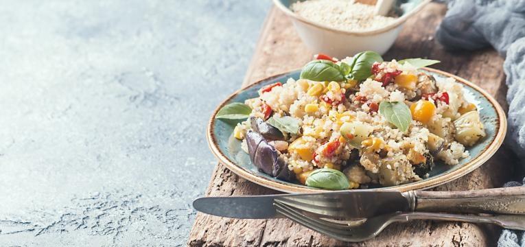 Risotto de quinoa com espinafres
