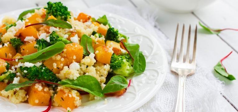 Risotto de quinoa com abobora e acelgas