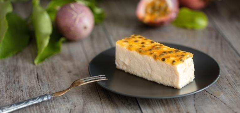 Cheesecake vegan de maracuja