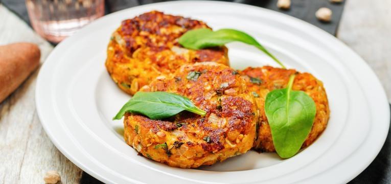 Receitas vegan bimby Hamburguer vegan de grao e caril