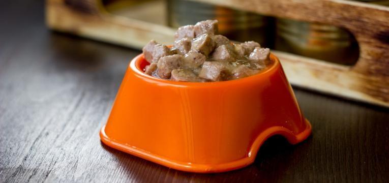 racao seca ou humida saqueta de comida em gamela