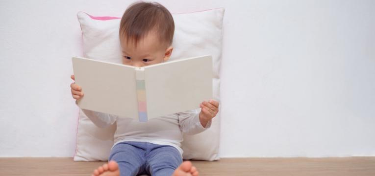 como estimular um bebe de 1 ano bebe a ver livro
