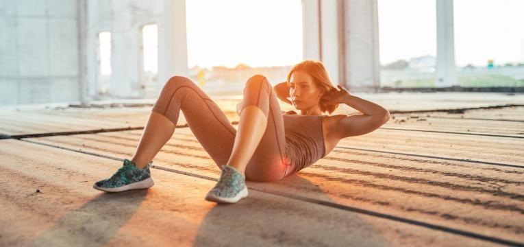 treino em circuito de 20 minutos abdominal crunch