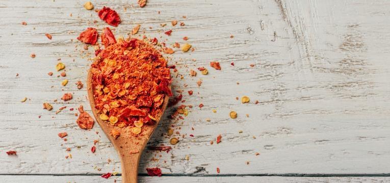 barriga lisa colher com pimenta