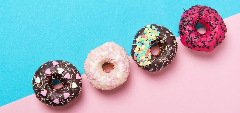 Donuts saudaveis com aveia e farinha de coco