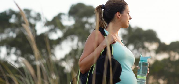 desejos na gravidez gravida a fazer exercicio
