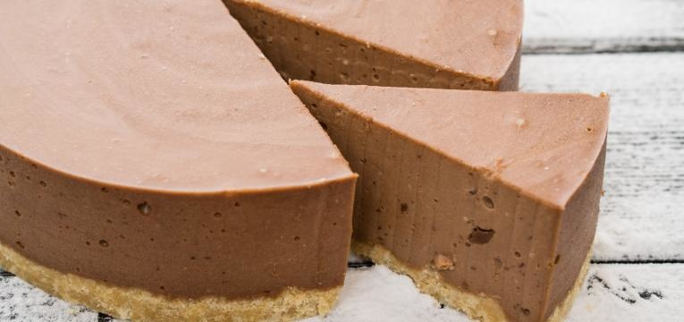 Tarte de natas com chocolate