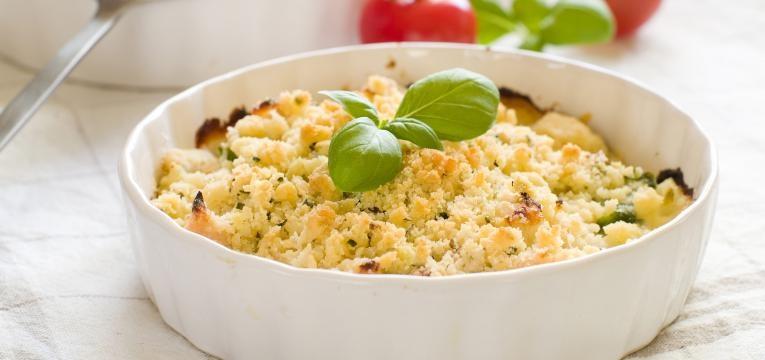 Crumble vegan de legumes
