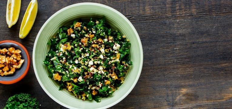 couve kale salada com couve