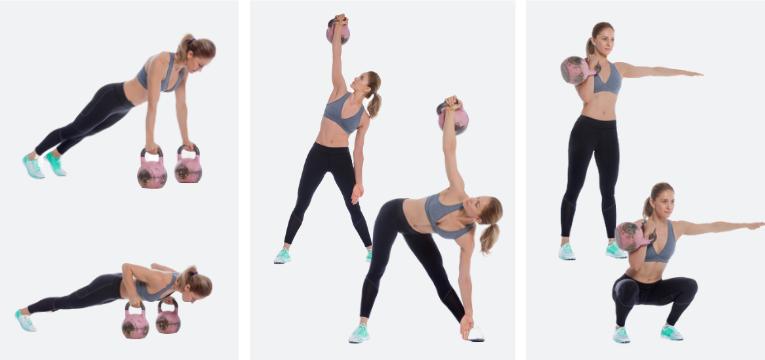 acessorios de fitness exercicios com kettlbell