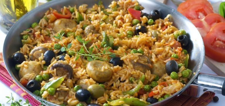 Como fazer paella vegetariana