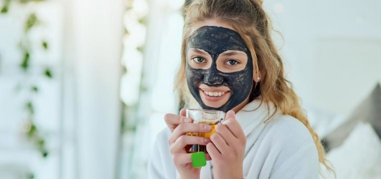 pele mista mascara caseira