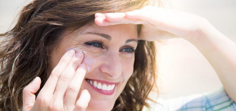 pele mista protetor solar cara