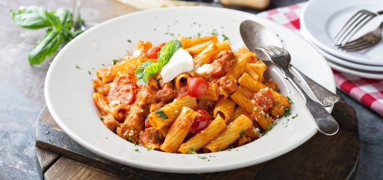 dieta para perder peso massa penne com tomate