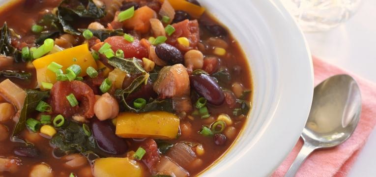 receitas vegetarianas com batata doce chili com batata-doce