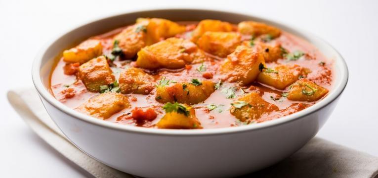 receitas vegetarianas com batata doce caril de lentilhas e batata-doce