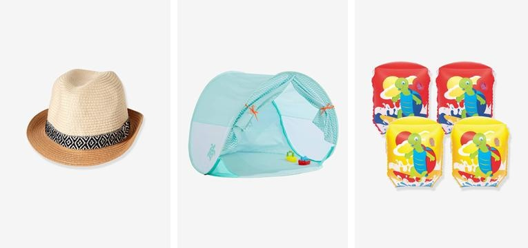 artigos de praia para bebé vertbaudet