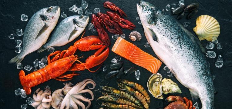 alimentos com proteina peixes e crustaceos