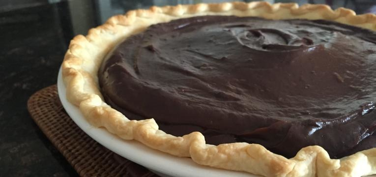 tarte de mousse de chocolate com banana