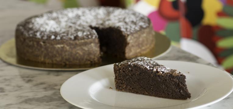 tarte de mousse de chocolate sem base