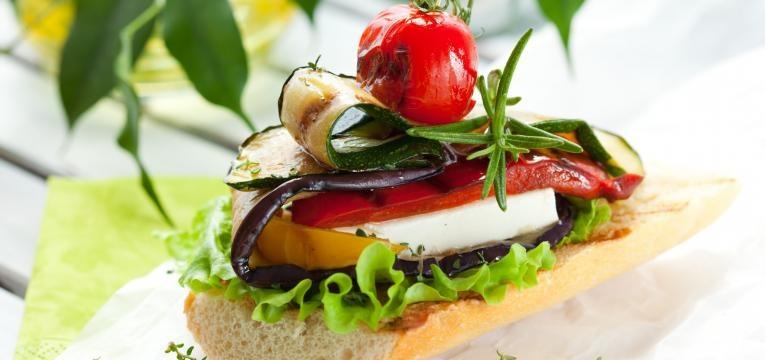 sandes saudaveis vegetarianas