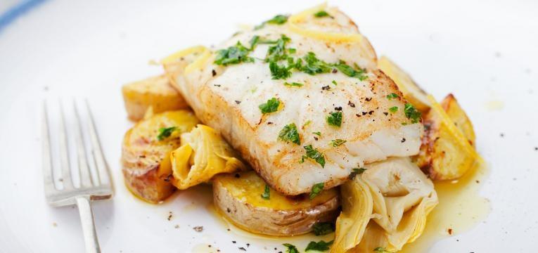 Bacalhau no forno com batatas