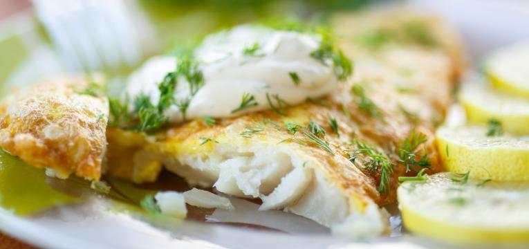 Bacalhau no forno com maionese