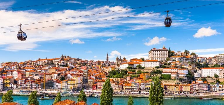 fim de semana no Porto teleferico cais de gaia