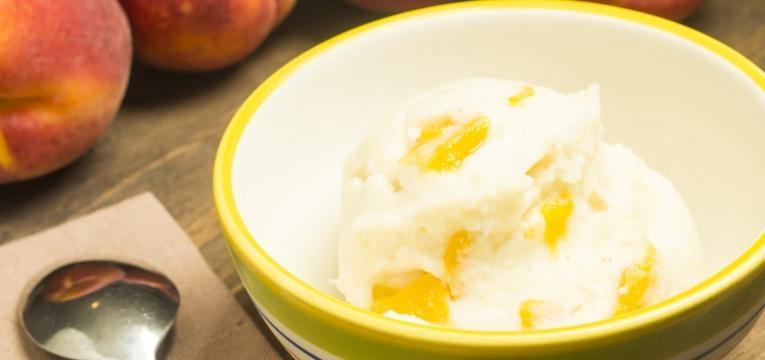 receitas com pessego gelado saudavel de pessego