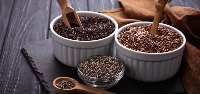 alimentos vegan ricos em proteina sementes
