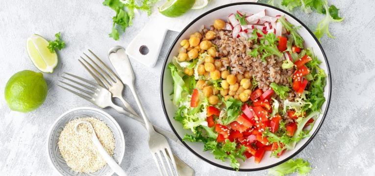 perder massa gorda salada colorida