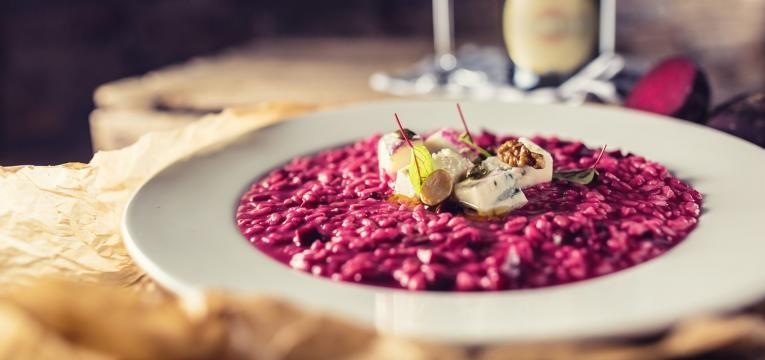 risotto de beterraba com trigo sarraceno