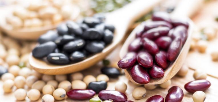 alimentos ricos em ferro colheres com feijao