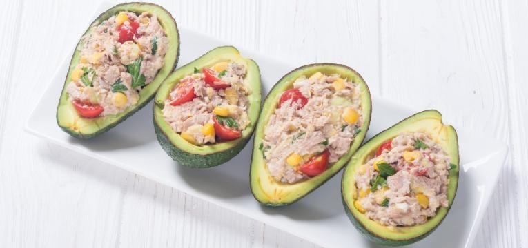 receitas para quem nao tem tempo para cozinhar abacates recheados com salada de atum