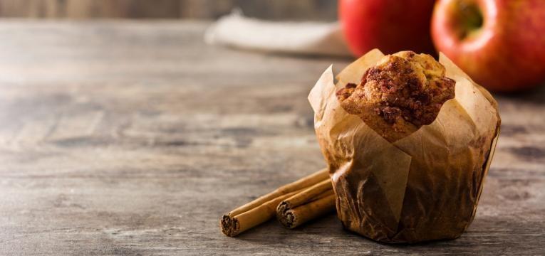 muffins de canela com maca